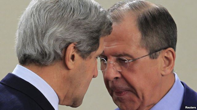Secretary of State John Kerry and Russian Foreign Minister Sergi Lavrov
